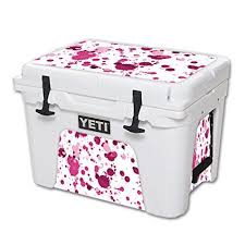 Mightyskins Protective Vinyl Skin Decal For Yeti Tundra 35 Qt Cooler Wrap Cover Sticker Skins Pink Drops Want Additional Yeti Tundra Cool Wraps Yeti Cooler