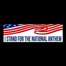 I Stand For The National Anthem Anti Nfl Decal Bumper Sticker Conservative Gop Liberal Bumper Stickers Bumper Stickers Faith Family Freedom