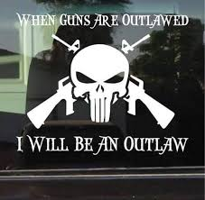 Punisher Skull Outlaw Ar Truck Decal Sticker Custom Sticker Shop