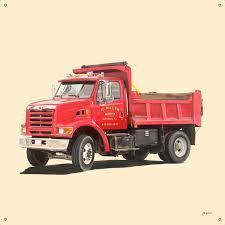 Oopsy Daisy Classic Red Dump Truck By Jill Pabich Canvas Wall Decal Wayfair