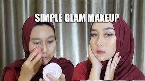 simple glam makeup tutorial ala ncik