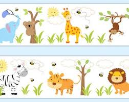Nursery Wall Border Etsy