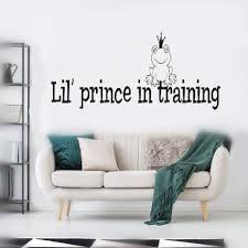 Amazon Com Wall Stickers Art Diy Removable Mural Room Decor Mural Vinyl Personalized Name Prince In Training For Nursery Kids Room Boys Room Home Kitchen