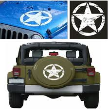 1x White Star Pattern Stylish Car Sticker Decal High Quality Vinyl For Truck Suv For Sale Online Ebay