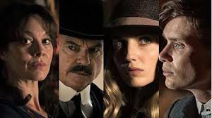 Aunt Polly, inspector Campbell, Grace, and Tommy Shelby of the ...