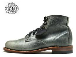 miles boots gray leather men boots