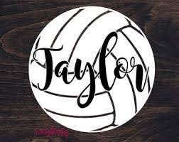 Volleyball Car Decal Etsy