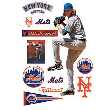New York Mets Jacob Degrom Fathead 12 Pack Life Size Removable Wall Decal