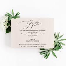 wedding gift registry wording ideas