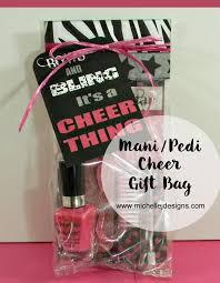 mani pedi cheer gift bag diy cheer