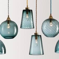 perky hand blown glass pendant light