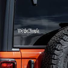 Amazon Com We The People Decal Vinyl Sticker Second Amendment Car Window Laptop White 6 Arts Crafts Sewing