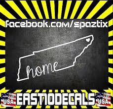 2 Tennessee Home Tri Star State Flag Vinyl Car Sticker Decal Vols Tn Ebay