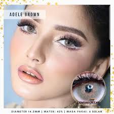 Hemat Softlens Pretty Doll Adele Brown / Coklat Sale!!! | Lazada ...
