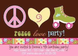 Peace Love Party Hippie Roller Skate By Allisonpowelldesigns