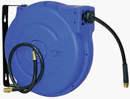 spring and manual rewind air hose reel