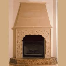 carved bwood cast stone fireplace