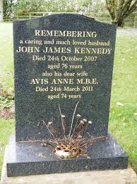 Avis Anne Hoy Kennedy, MBE (1937-2011) - Find A Grave Memorial