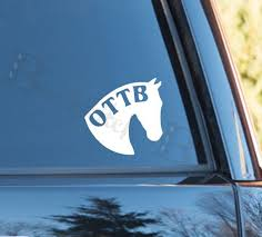 Off Track Thoroughbred Ottb Vinyl Decal Choice Of Colors Ottb Cute Horses All The Pretty Horses