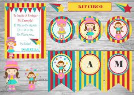 Kit Imprimible Circo Nenas Invitacion Candy Cumpleanos 300