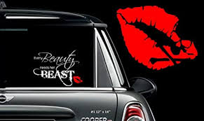 Amazon Com Every Beauty Needs Her Beast 1 Wall Or Window Decal 12 X 14 Everything Else