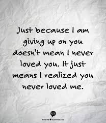 its the saddest realization but true and i m so much better off
