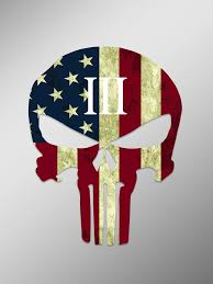 Amazon Com Punisher Skull American Flag 3 Percenter Vinyl Decal Sticker Cars Trucks Vans Walls Laptops Cups Printed 6 Inches Kcd922 Kitchen Dining
