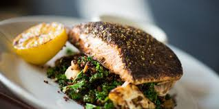 ATAR CRUSTED SALMON with spicy tahini ...