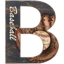 Baseball Letter B Wood Wall Decoration Boys Room Kids Decor You Can Find More Details By Visiting The Image Baseball Wall Art Boy Room Wall Decor Wall Signs