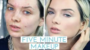 acne coverage five minute makeup
