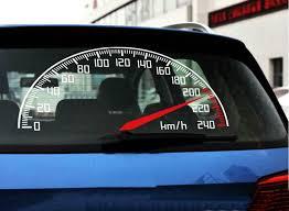 Graphics Reflective Vinyl Speedometer Sticker Car Rear Window Decal Emblem Ebay