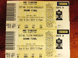 two NRL 2013 Grand Final tickets - Menslink