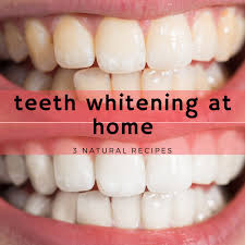 3 recipes teeth whitening at home