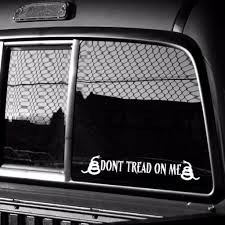 Extra Large 8 X 10 Vinyl Dont Tread On Me Decal Gadsden And Culpeper