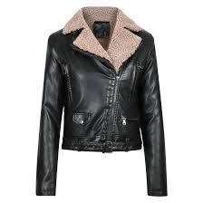 winter slim warm faux leather jackets