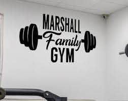 Gym Wall Decal Etsy