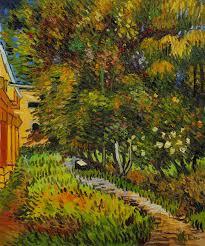asylum and garden by vincent van gogh