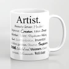 artist description coffee mug by