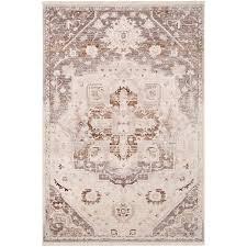 beige brown and gray 9 foot runner rug