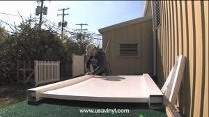 Vinyl Fence Gate Installation Video From Www Usavinyl Com Youtube
