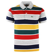 lacoste polo shirt multicoloured