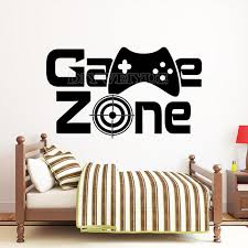 Gamer Zone Wall Decal Gamer Controller Video Game Wall Decals Vinyl Removabel Kids Bedroom Game Room Decoration Poster Z767 Buy At The Price Of 6 23 In Aliexpress Com Imall Com