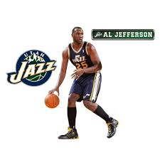 Al Jefferson Fathead Jr Nba Basketball Player Wall Accent Sticker Utah Jazz Target