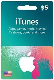 a s 5 itunes gift card from