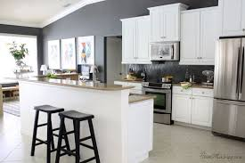 grey kitchen walls