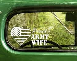 2 Proud U S Army Wife Decal Sticker Usmc Decal Army Sister Decals Stickers