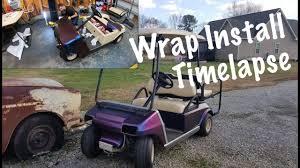 Golf Cart Custom Vinyl Wrap Install Youtube
