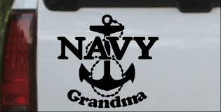 Navy Grandma Car Or Truck Window Decal Sticker Or Wall Art Decalsrock