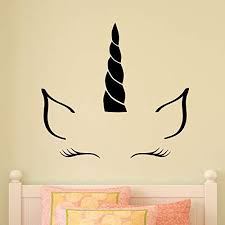 Amazon Com Wall Quote Decal Unicorn Horn Girls Nursery Quote Kids Wall Art Decor Vinyl Wall Decal Home Kitchen