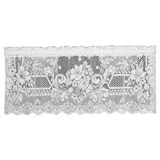 Heritage Lace Kensington 18 In L Polyester Valance In White 8325w 6018 The Home Depot